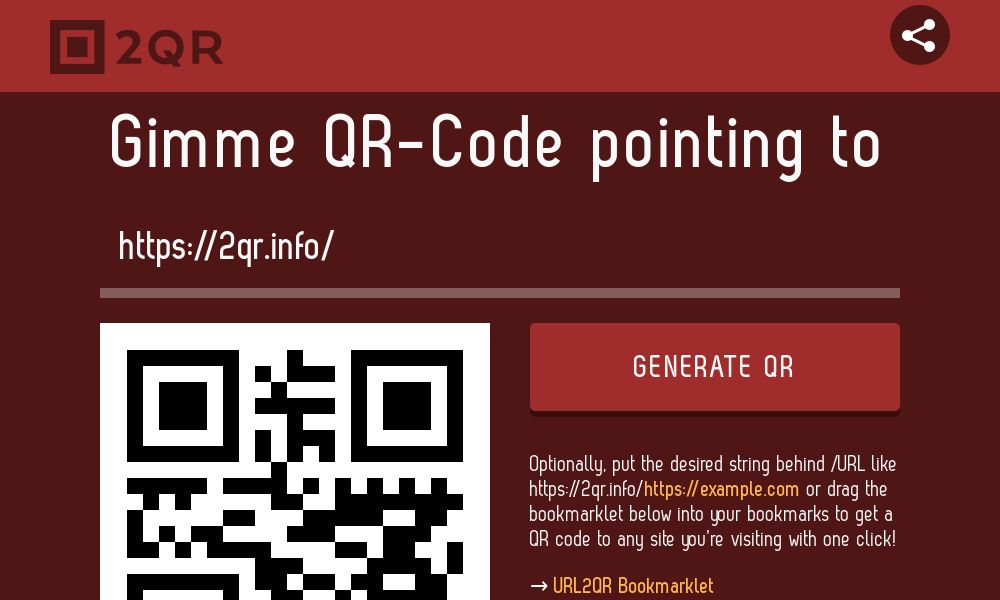 Screenshot of 2QR