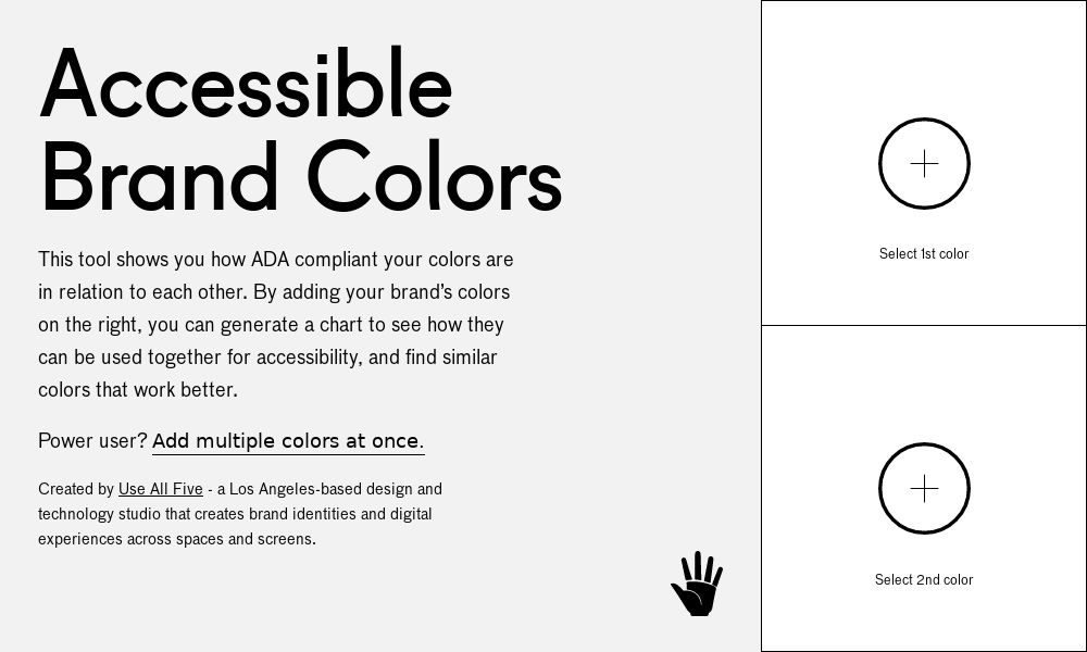 Screenshot of Accessible Brand Colors