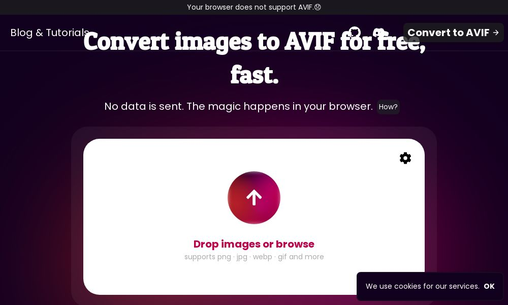 Screenshot of avif.io