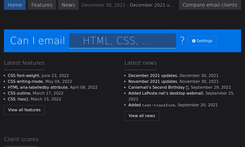 Screenshot of Can I E-Mail