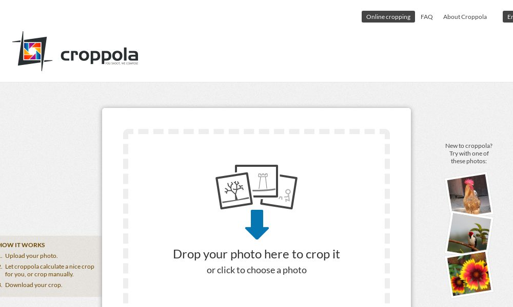 Screenshot of croppola