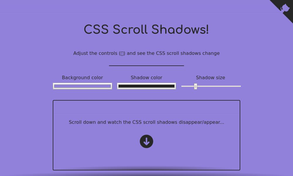 Screenshot of CSS Scroll Shadows
