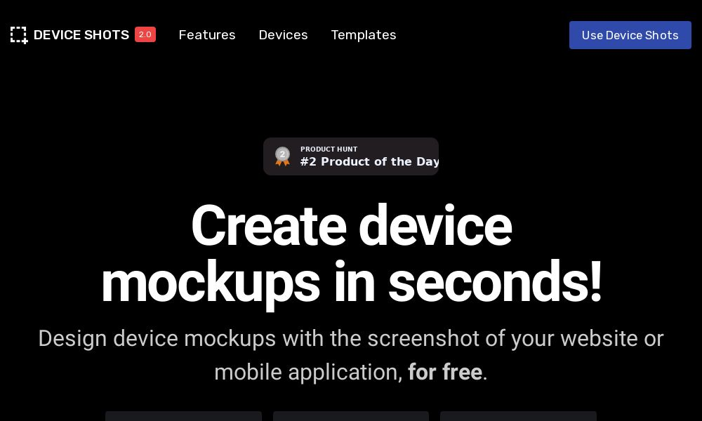Screenshot of Device Shots