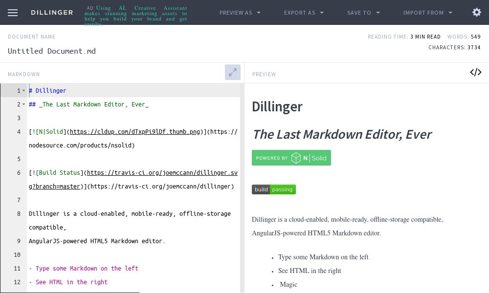Screenshot of Dillinger