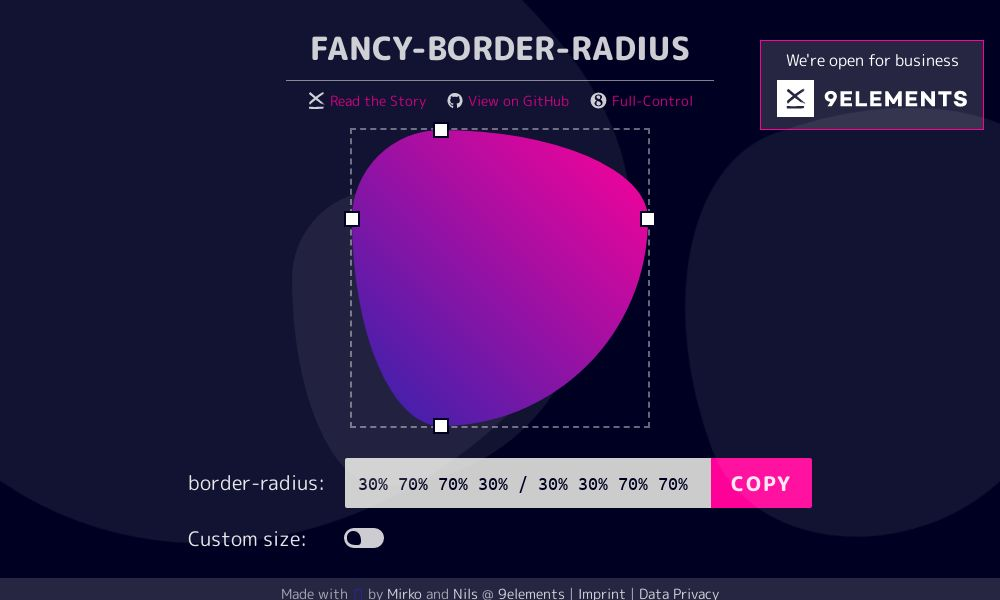 Screenshot of Fancy-Border-Radius