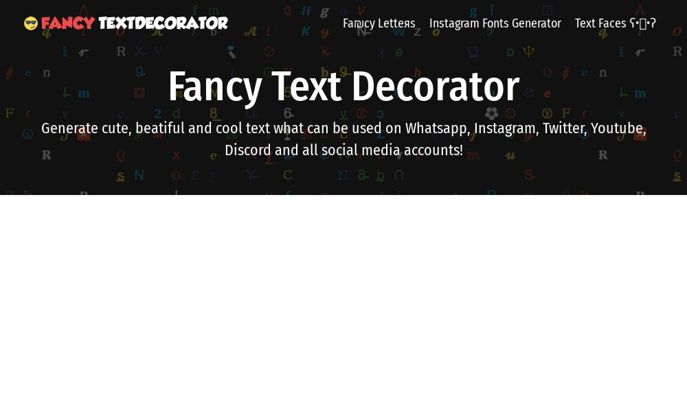 Screenshot of Fancy Text Decorator