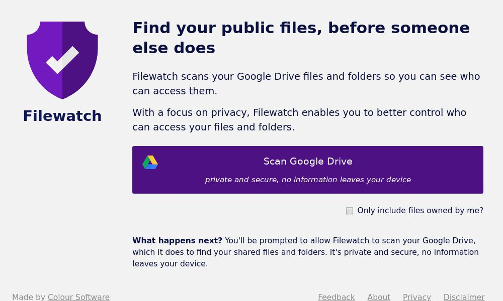 Screenshot of Filewatch