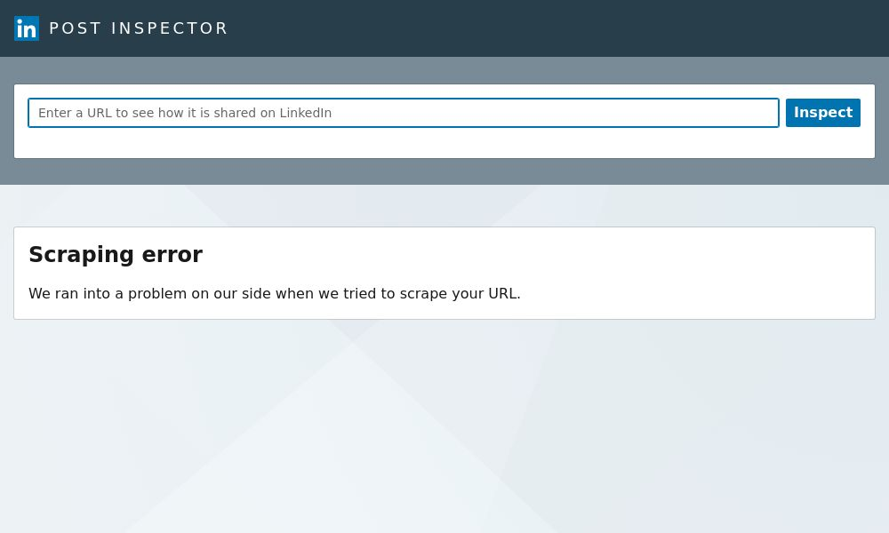 Screenshot of LinkedIn Post Inspector