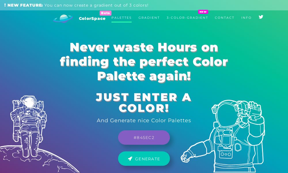 Screenshot of MyColorSpace