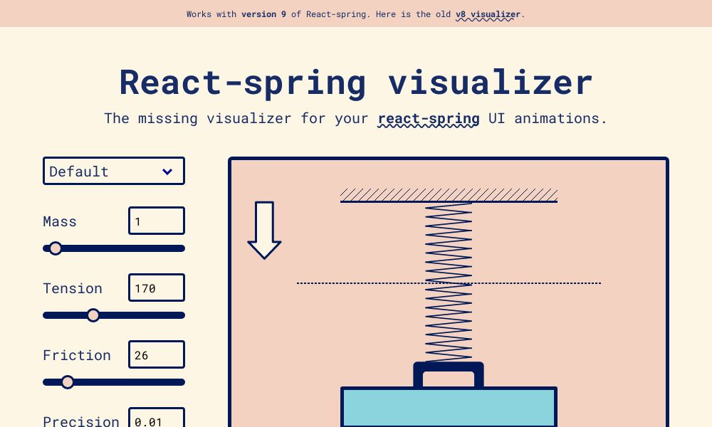 Screenshot of React-spring visualizer