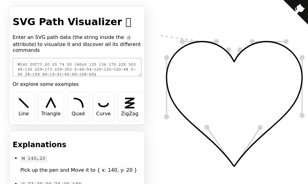 Screenshot of SVG Path Visualizer