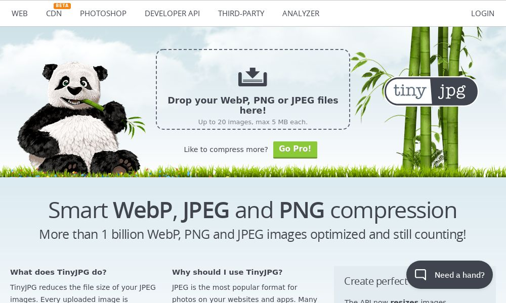 Screenshot of TinyJPG/TinyPNG