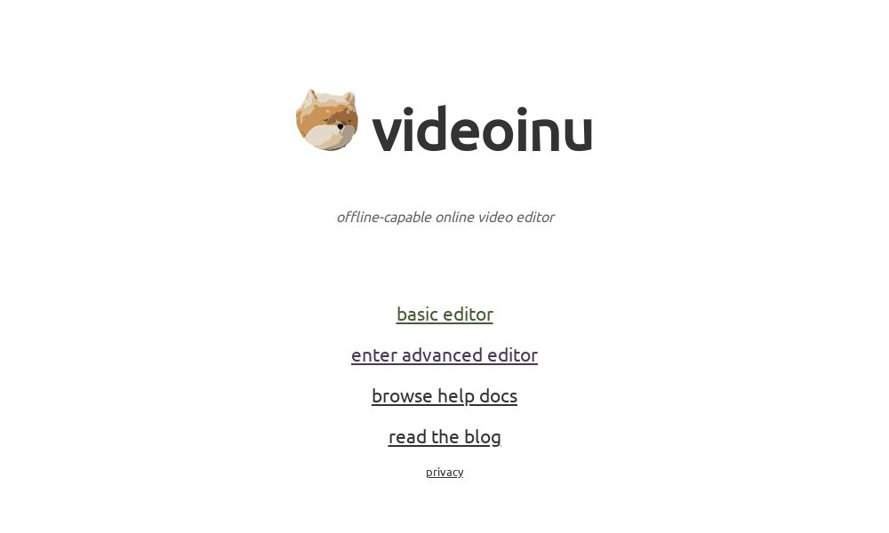 Screenshot of videoinu